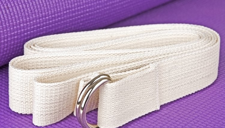 How to Use a Yoga Strap to Straighten the Shoulders and Back