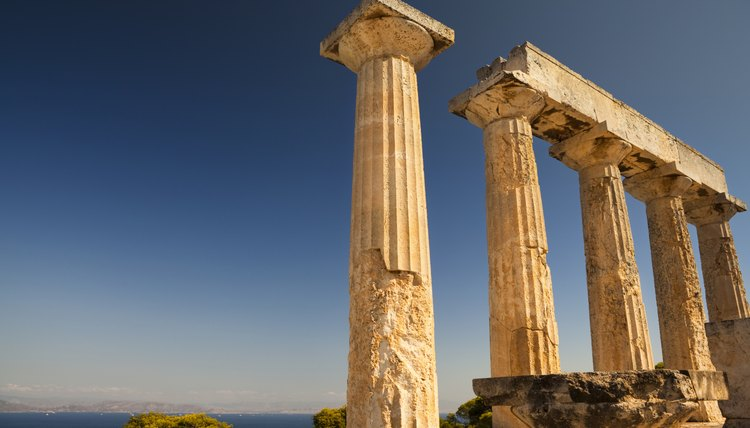 A Greek temple.