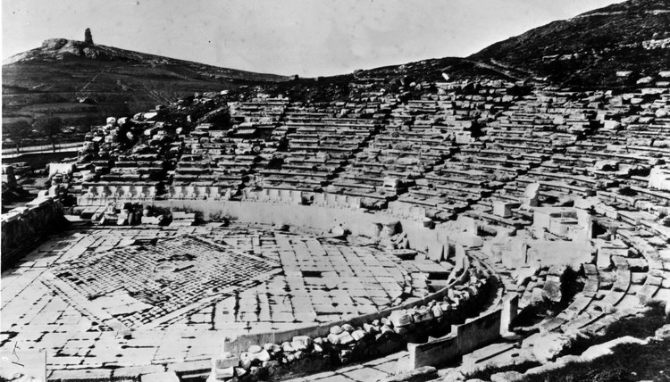 The ancient Theater of Dionysus is still a popular tourist draw in Athens.