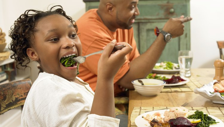 Finishing chewing your food before you engage in dinner conversation.