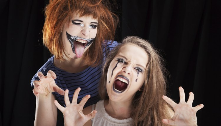 Halloween makeup turns a simple costume into a scary statement.