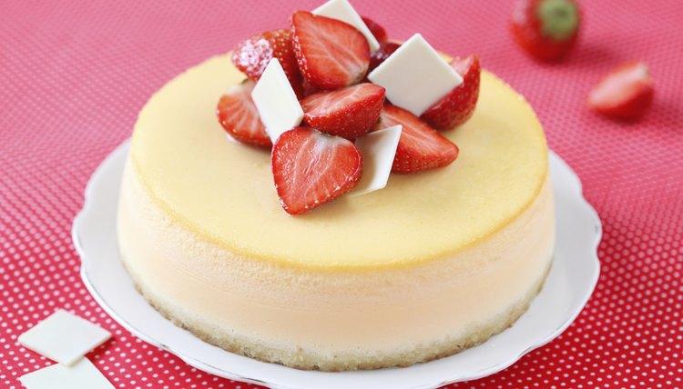 Vanilla strawberry cheesecake.