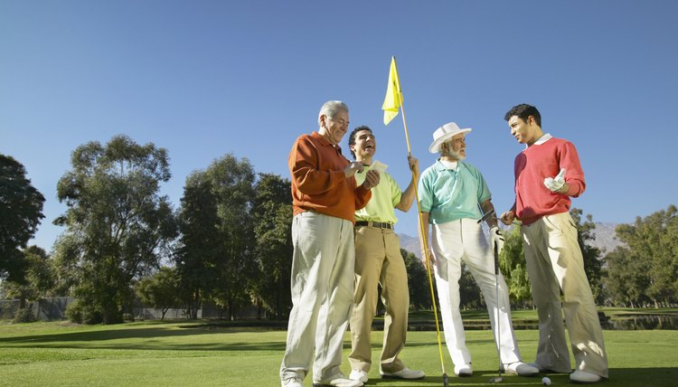 The handicap system allows players of all levels to play against each other in a fair match in golf.