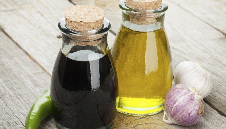 Homemade oil and vinegar set
