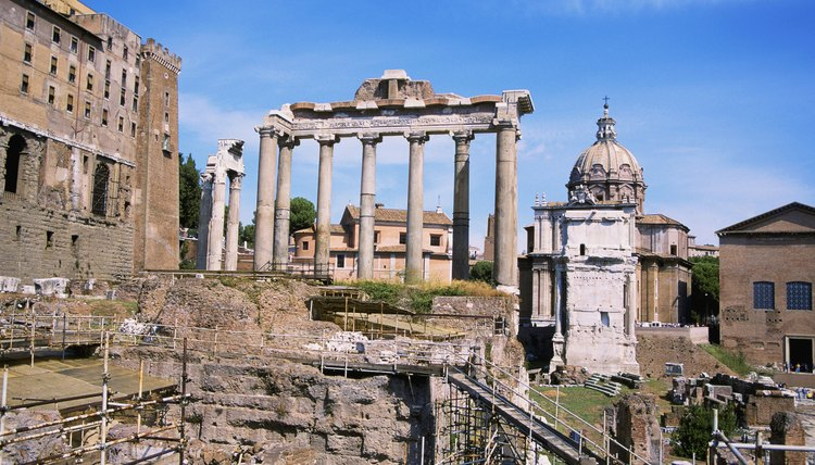 Side-by-side Roman and Christian monuments attest to the interaction of Christianity and early Mediterranean religions.