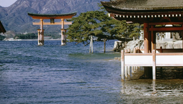 Shinto monuments and Buddhist temples exist side-by-side in modern Japan.