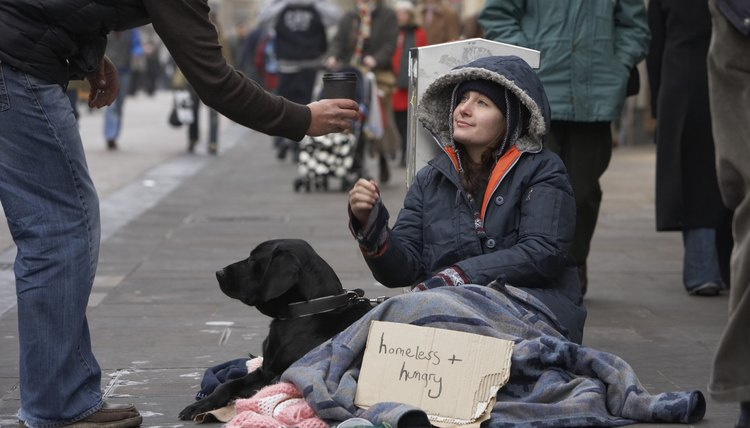 Mental illness and lack of health care are risk factors for homelessness.
