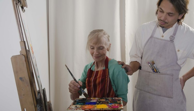 Most art therapy undergraduate programs offer courses and hands-on experiences.