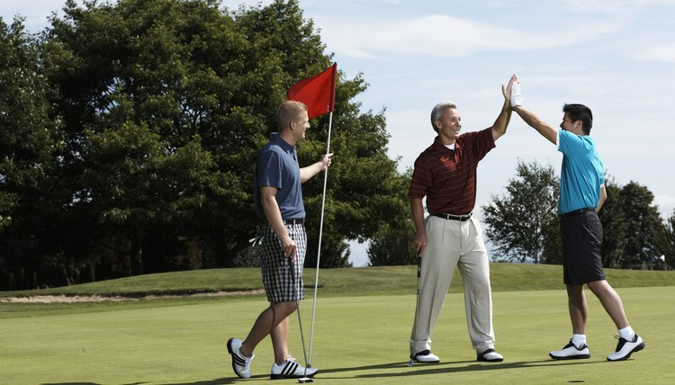 Even if you don't play as well as your buddies, you may win the hole by using your handicap.