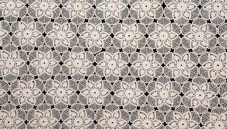 Antique lace tablecloth.