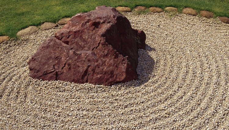 Zen rock gardens are used in focused meditation