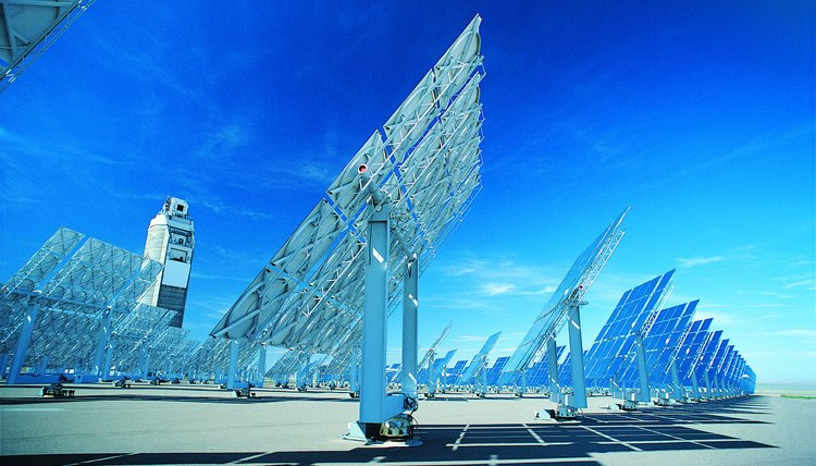 A solar array generates energy in Albuquerque, New Mexico.