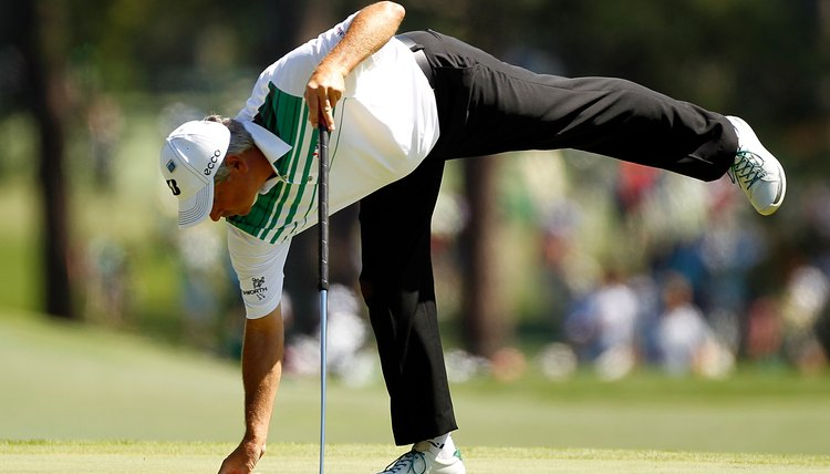 Fred Couples wore casual-looking shoes at the 2012 Masters.