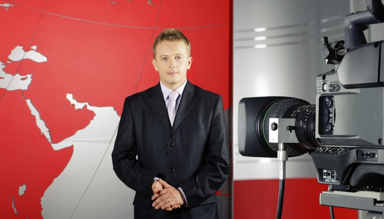 television presenter and video camera