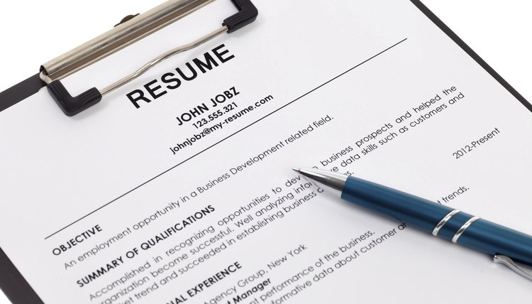 Resume Isolated  Qualifications On A Resume