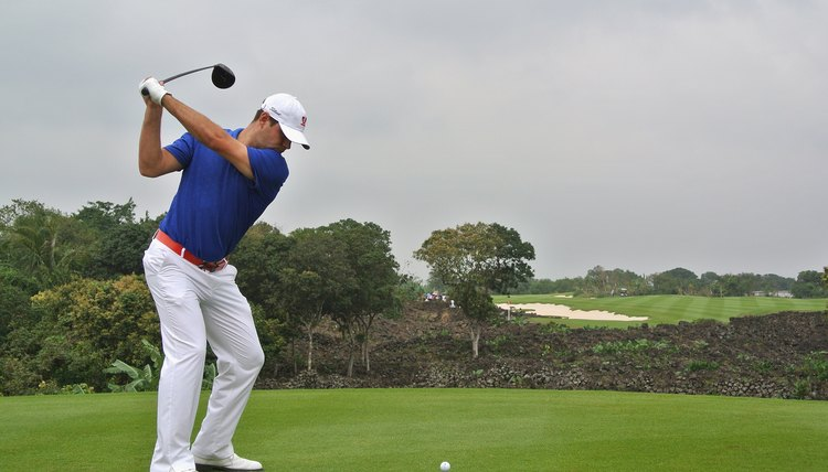 golf Hitting swinging