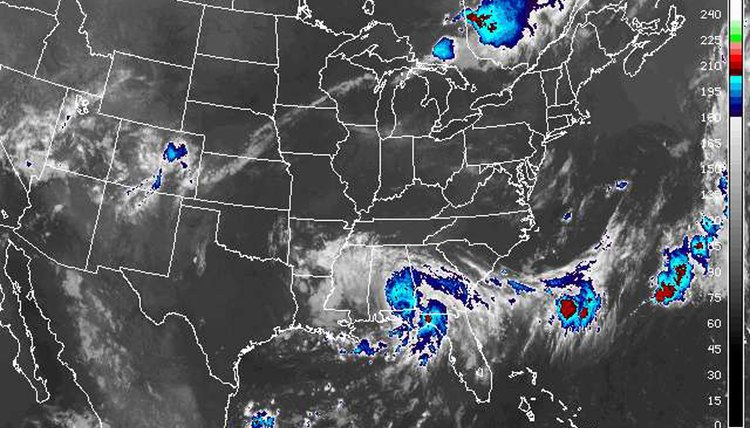 Weather-related satellite imagery tracks storm activity but often omits ground-level details.