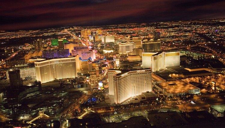 Las Vegas at night.
