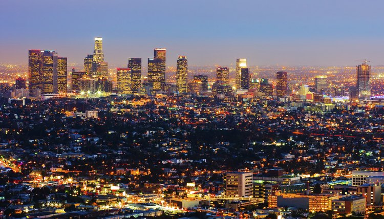 Los Angeles' cityscape at night