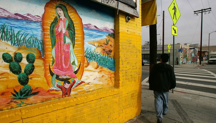The Virgin of Guadalupe is one of the most important religious symbols in Mexico.