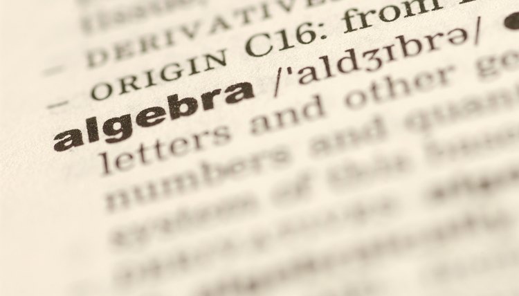 Algebra is derived from an Arabic word meaning