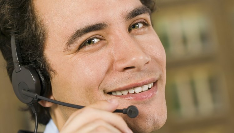 Man smiling with headset