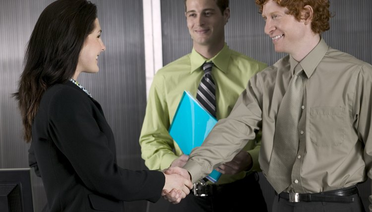Handshake between business colleagues