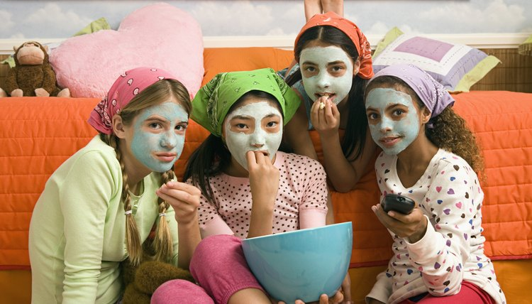 Have a girls' night in making home-remedy face masks.