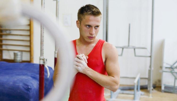 Male Gymnast Weight Training