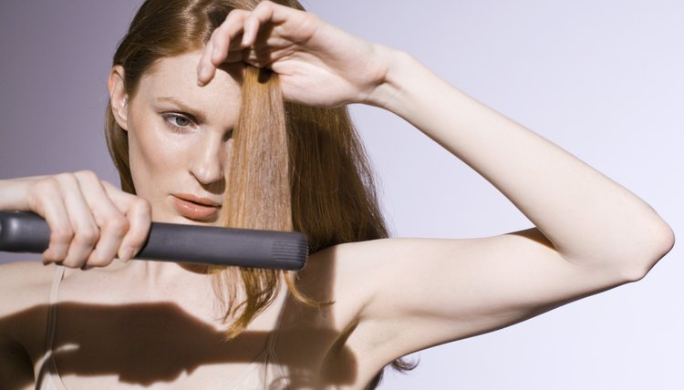 The type of material that your flat iron is made of can help cut down on frizz.