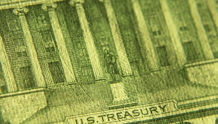 Close-up of American currency