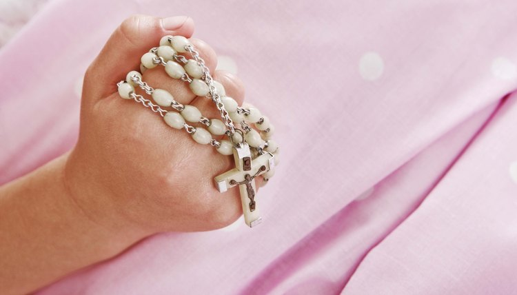 A rosary is a common gift for children celebrating First Communion.