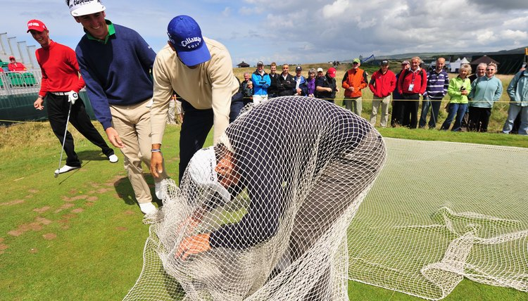 Improper use of a golf net can lead to disastrous results.