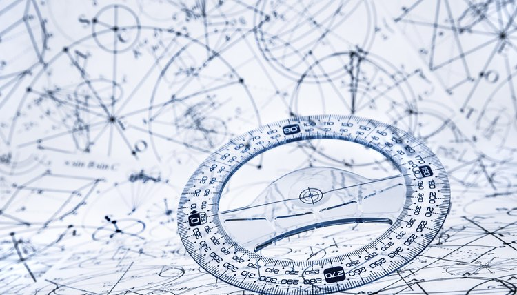 Protractor lying on top of paper