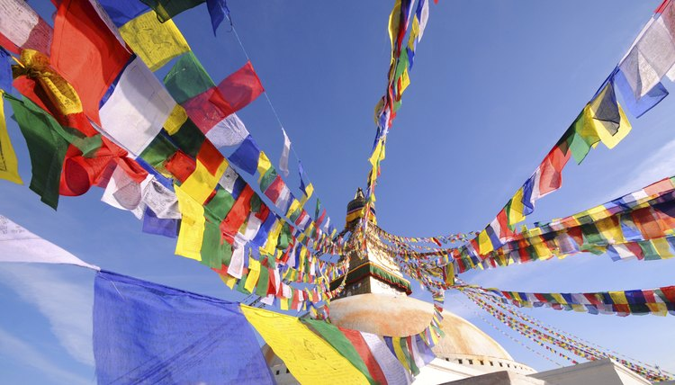 Prayer flags provide balance and benefit to Tibetan Buddhists.