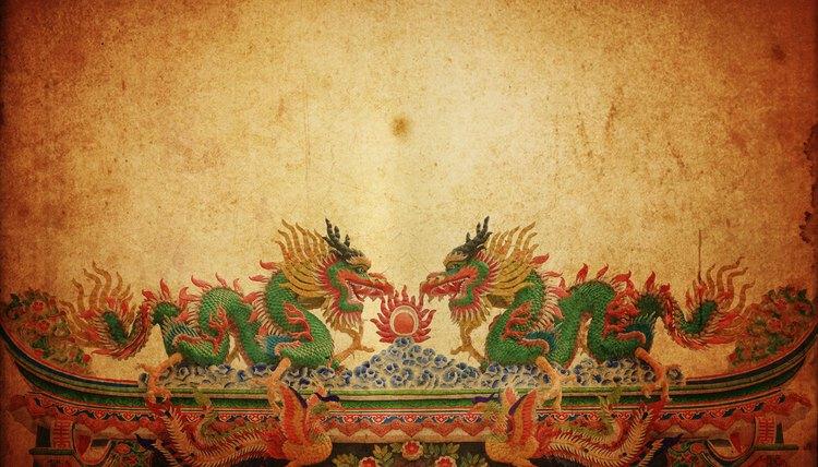The Chinese dragon often symbolizes spiritual powers.