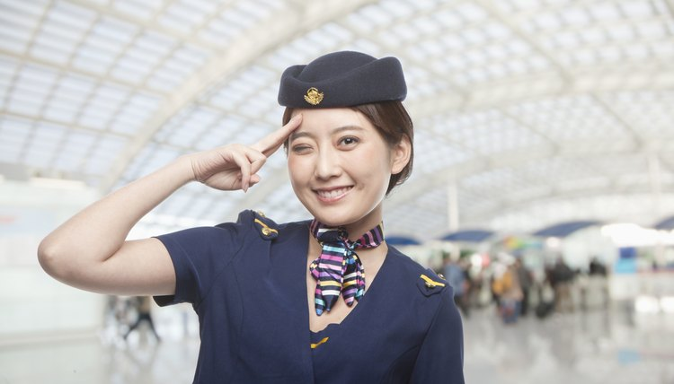 Portrait of Air Stewardess Winking