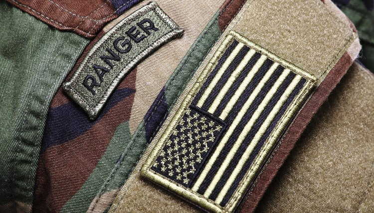 Army Ranger patch with US Flag