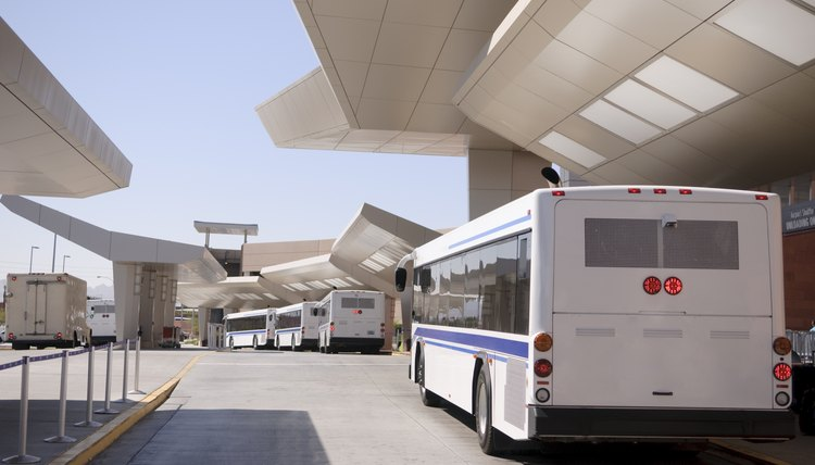 Bus at airport waiting for passengers