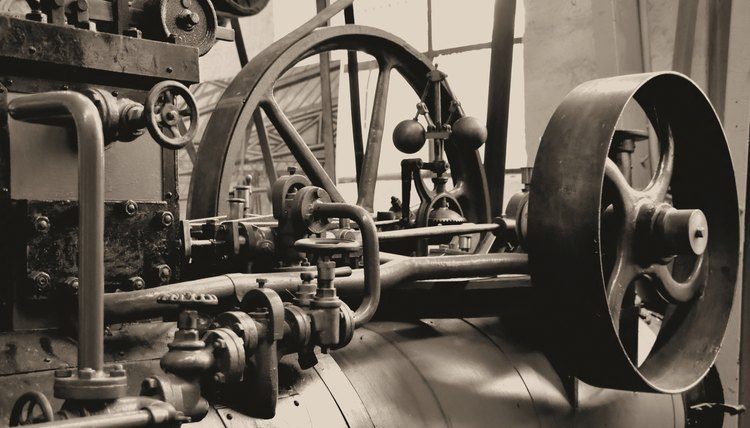 The Industrial Revolution was driven by steam.