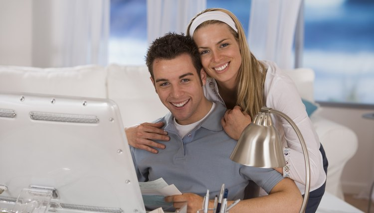 Many couples open joint checking accounts to pay shared bills.