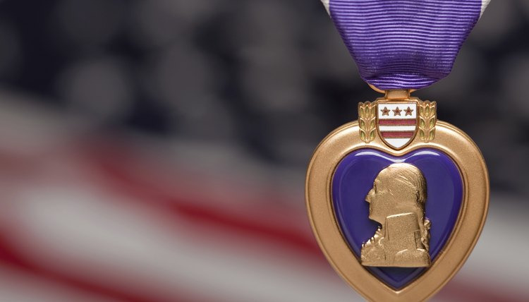 A Purple Heart has the image of its founder on it.
