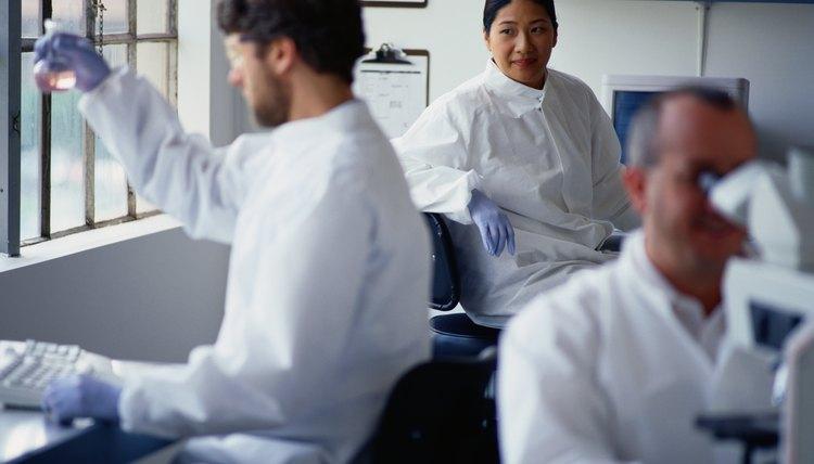 Geneticists often work in a laboratory setting.
