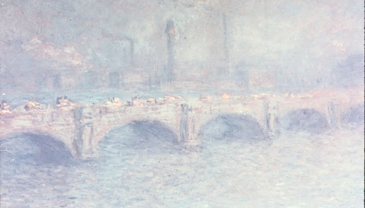 Impressionism was an attempt to capture the impression of a scene, rather than its reality, as seen here in a painting by impressionist painter Monet.