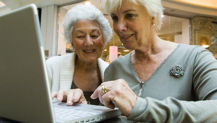 Two women on laptop