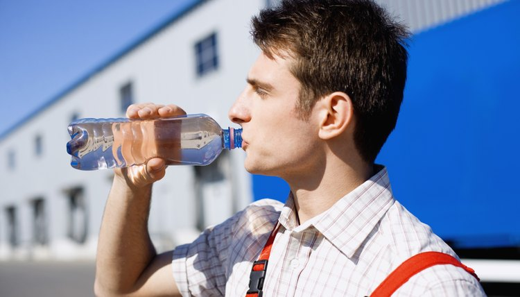 Drink plenty of water, even if you don't feel thirsty, to stay cool in hot weather.