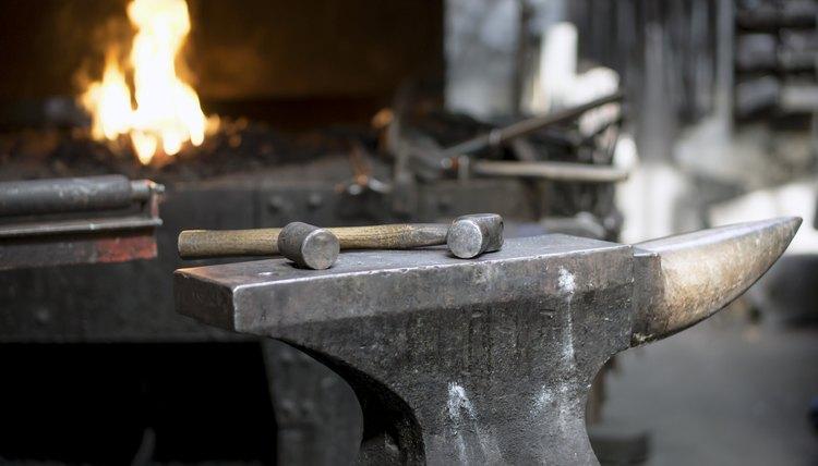 Iron blacksmith tools.