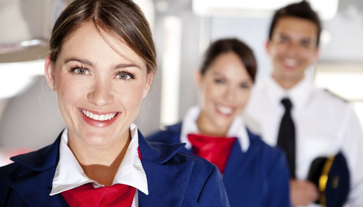 Airplane cabin crew