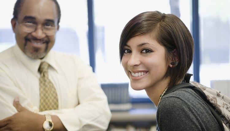 Probation officer beside teenage girl