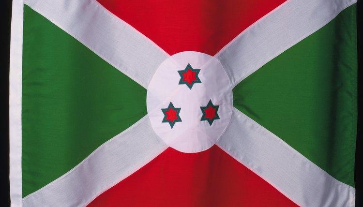 The three stars on the flag of Burundi represent the Hutu, the Tutsi and the Twa.